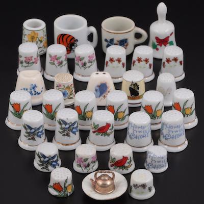 Ceramic Thimbles, Miniature Mugs, Bell, Magnets,