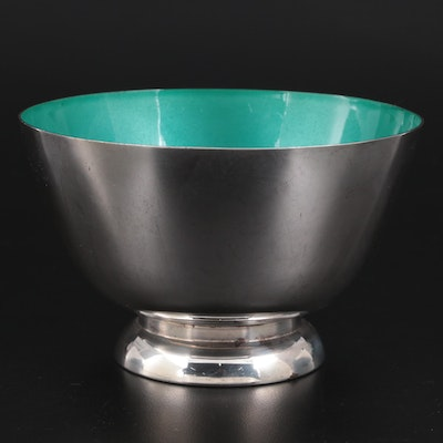 """Towle Sterling Silver and Enamel """"Paul Revere"""" Bowl"""