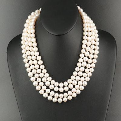 Endless Semi Baroque Necklace