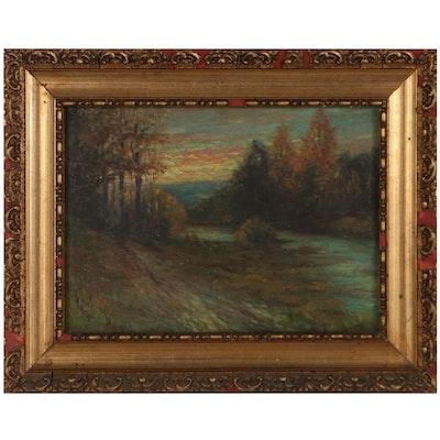 Landscape Oil Painting, 1920