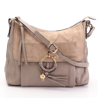 See by Chloé Joan Shoulder Bag in Suede and Pebbled Leather