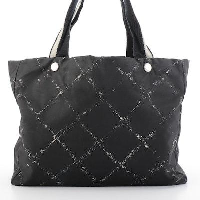 Chanel Travel Line Tote Bag in Printed Black Nylon