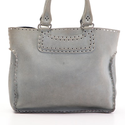 Celine Studded Shopper Tote Large in Suede
