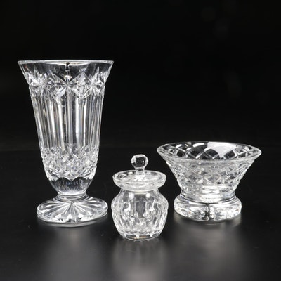 """Waterford Crystal """"Glenann"""" Bowl, """"Starburst"""" Footed Vase and More"""