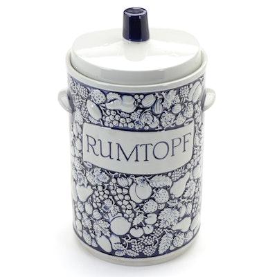 "German Stoneware ""Rumtopf"" Canister, Late 20th Century"