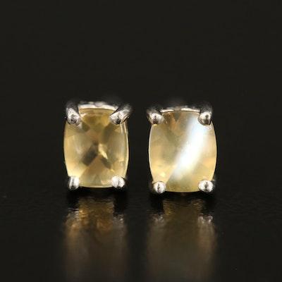 Sterling Moonstone Stud Earrings