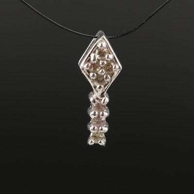 Sterling Silver Color Change Garnet Pendant