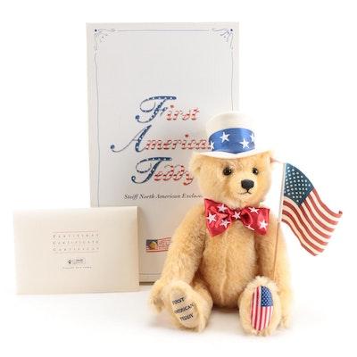 """Steiff """"The First American Teddy"""" Plush Mohair Bear, 2003"""