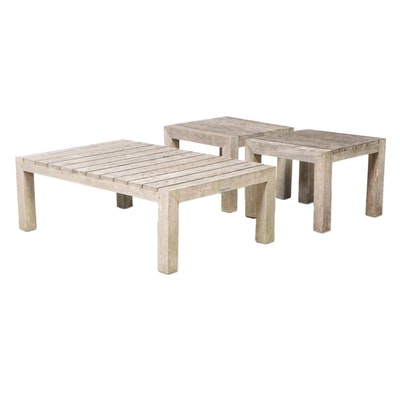 Three Kingsley-Bate Teak Patio Tables