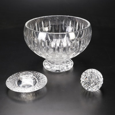Waterford Marquis Crystal Bowl and Candlestick with Orrefors Candle Holder