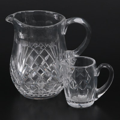 """Galway """"Ashford"""" Crystal Pitcher and Waterford """"Kerry"""" Crystal Creamer"""