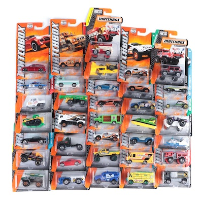 """Matchbox Toy Cars by Mattel, 1:64 Scale Including """"MBX Construction"""""""