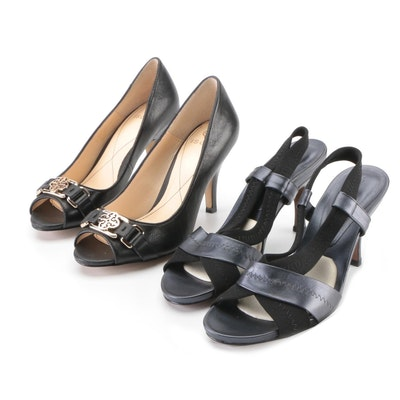 Donald J Pliner Ada Slingback Sandals with Isola Despina Peep-Toe Pumps