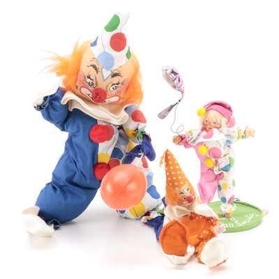 Annalee Clown Dolls, Late 20th Century