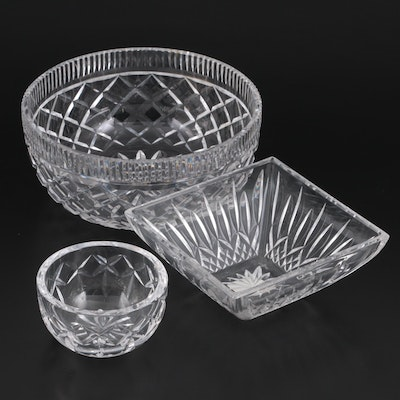 """Waterford Crystal """"Lismore"""" Square Bowl and Other Crystal Bowls"""