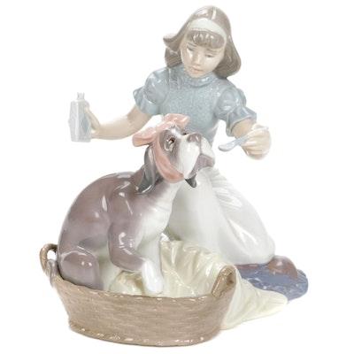 "Lladró ""Take Your Medicine"" Porcelain Figurine Designed by Regino Torrijos"