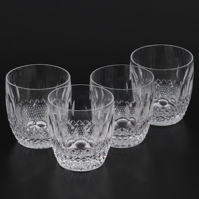 """Waterford """"Colleen Short Stem"""" Cut Crystal Old Fashioned Glasses"""