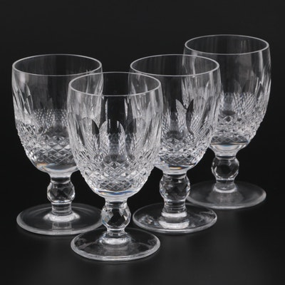 """Waterford """"Colleen Short Stem"""" Cut Crystal Claret Wine Glasses"""