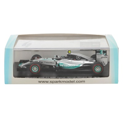 Sparkmodel Mercedes AMG F1 W06 Hybrid Monaco GP 2015 Winner 1:43 Scale Model Car