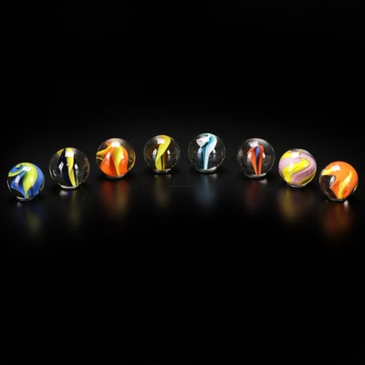 Andy Hudson Handblown Art Glass Marbles with Washer Stands, 2021