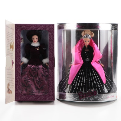 """Mattel """"Happy Holidays"""" and """"Holiday Traditions"""" Barbie Dolls"""
