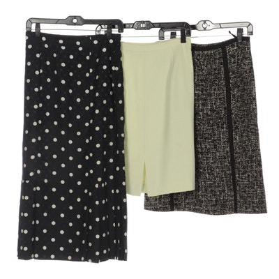 Olsen Tweed Skirt, Hammer Polka-Dot Skirt and Jones New York Straight Skirt