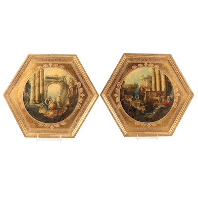 Decorative Crafts Florentine Gilt Wooden Wall Hangings, Mid to Late 20th Century