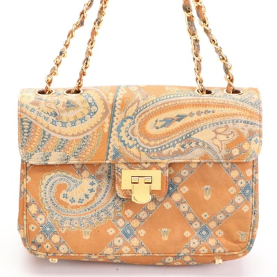 Morris Moskowitz Odyssey Pattern Leather Chain Bag
