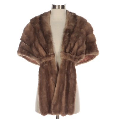 Mink Fur Stole from Maple Furriers, Mid-20th Century