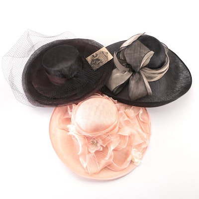Peter Bettley London and Mary Jane Collection Formal Occasion Hats with Hat Box