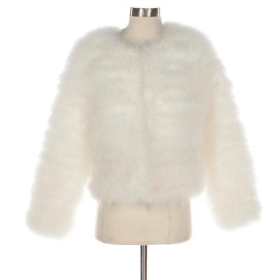 Ostrich Feather Wedding Jacket