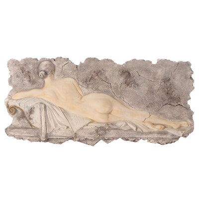 Mixed Media Relief Cast Sculpture Attributed to Mauro Pozzobonelli