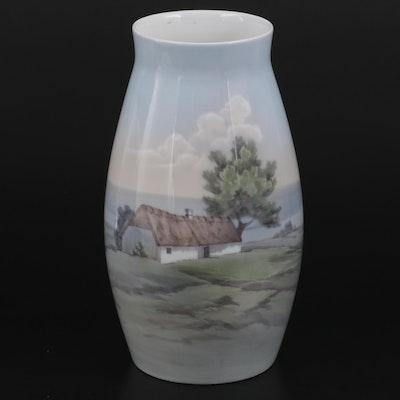 Bing & Grondahl Copenhagen Porcelain Vase, Late 20th-Century