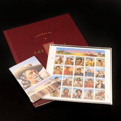 """""""Legends of the West"""" Commemorative Stamps, Postcard Set, and Book"""