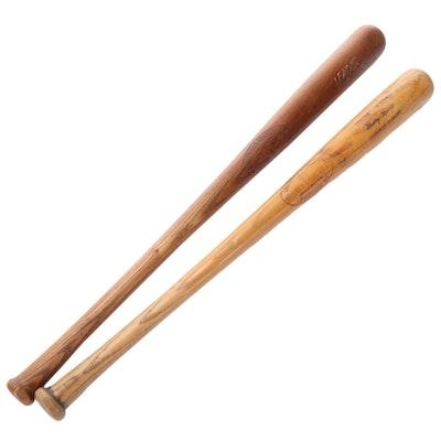 Joe DiMaggio and Mickey Mantle Hillerich & Bradsby Store Model Baseball Bats