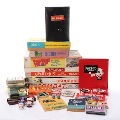 """""""Mousetrap"""", """"Operation"""", """"Yahtzee"""", """"Combat"""", Other Board, Card Games, Puzzles"""