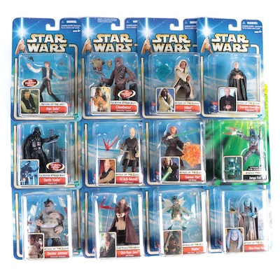 """Collection of Unopened """"Star Wars"""" Action Figures by Hasbro, Early 2000s"""