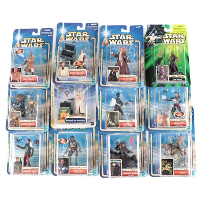 """Collection of Unopened """"Star Wars"""" Action Figures by Hasbro, 2000s"""