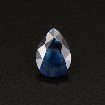 Loose 1.00 CT Pear Faceted Sapphire