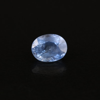 Loose 0.96 CT Oval Faceted Sapphire