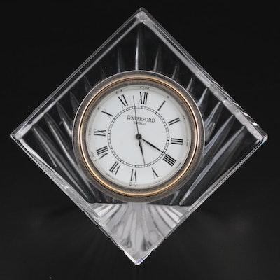 "Waterford ""Meridian"" Crystal Quartz Desk Clock"