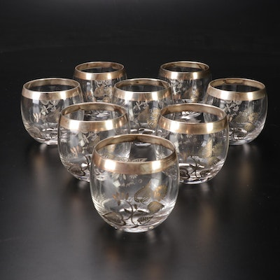 George Briard Silver Overlay Mid-Century Roly-Poly Glasses