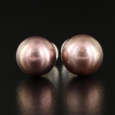 18K Pearl Stud Earrings