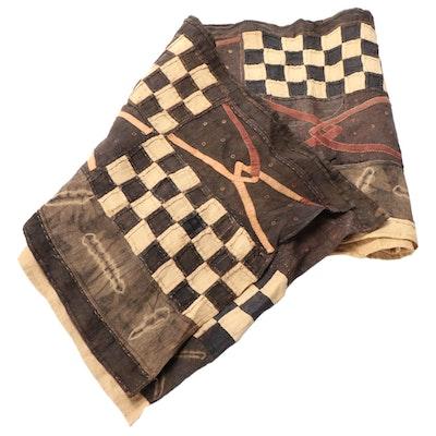 African Handwoven Kuba Cloth Textile, 20th Century