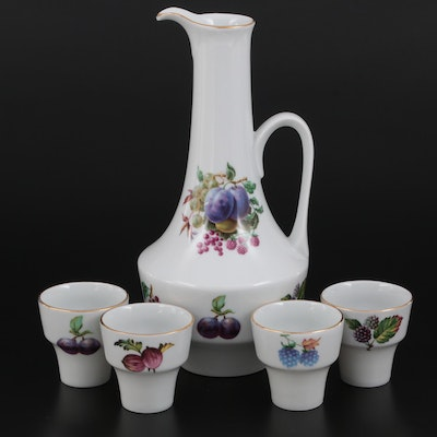 Naaman Israel Porcelain Pitcher and Cups