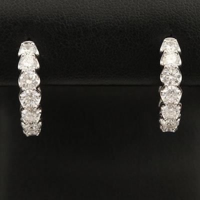 14K 3.52 CTW Diamond Inside-Out Hoop Earrings