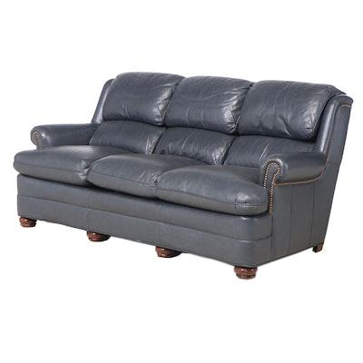 Hancock & Moore Brass-Tacked Leather Sofa