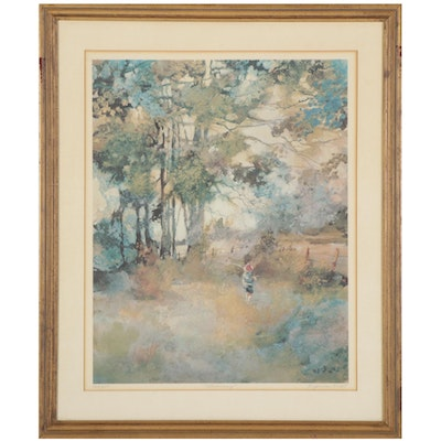 """Virginia Knight Offset Lithograph """"Jimmy,"""" Mid-Late 20th Century"""
