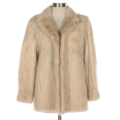 Corded Mink Fur Coat
