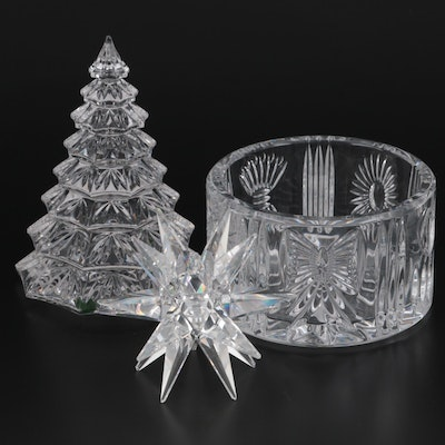 """Waterford Crystal """"Millennium Series"""" Bottle Coaster and Other Crystal Decor"""